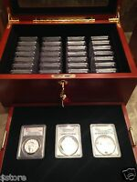 #1 COMPLETE COLLECTION PCGS PR70DCAM $10,$25,$50,$100 PLATINUM LIBERTY 54 COINS