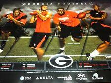 Georgia Bulldogs Football 2012 Team Schedule poster Aaron Murray & Jarvis Jones