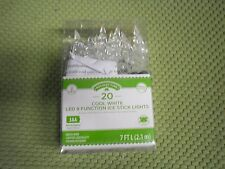 New ! Holiday Time B/O LED Ice Stick Christmas Lights Cool White, 20 Count