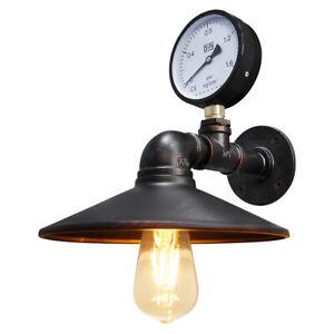 Vintage Industrial Rustic Waterpipe Wall Light Metal Scone Gauge Lamp M0164