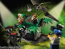 Lego 1370 Jurassic Park III: 2 dinosaurios raptor Rumble Studio 3 Minifiguras Completa