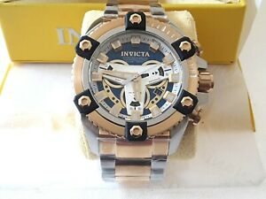 100%AUTHEN Invicta Coalition Forces 200m Two Tone Stainless Steel  30905 NEW