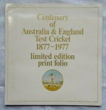 Centenary of Test Cricket 1877-1977 - Australia v England Cricket Collectable