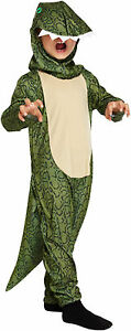 Childs Dinosaur Fancy Dress Up Outfit Costume Age 4-9 Years World Book Day NEW