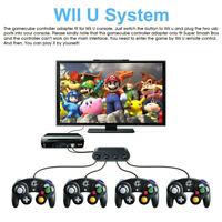 GameCube Controller Adapter for Wii u, Pc, Switch Super Smash Bros 4Port Adaptor