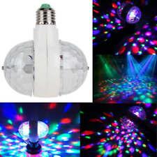 6W E27 RGB Dual Crystal Ball Rotating LED Stage Light Bulbs Party DJ Disco Lamp