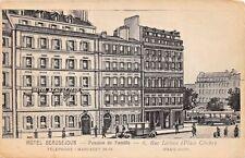 PARIS FRANCE~HOTEL BEAUSEJOUR-PENSION de FAMILLE-6, RUE LECLUSE ADVERT  POSTCARD