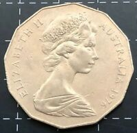 1976 AUSTRALIAN 50 CENT COIN - EF