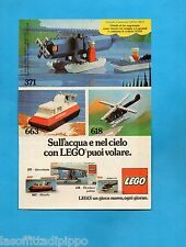 TOP977-PUBBLICITA'/ADVERTISING-1977- LEGO - 371 IDROVOLANTE+663 ALISCAFO+618 ELI