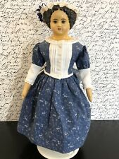 Antique Early Papier Mache Shoulder Head 27� Brunette Doll Painted Features