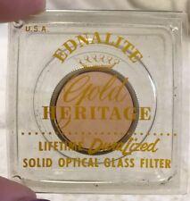 EDNALITE Coated Solid Optical Glass Lens Filter Lifetime Duralized Gold Heritage