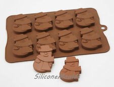 8 Cella GRANDE PUPAZZO DI NEVE 30g cioccolato caramelle in silicone Piatti da Forno Stampo Biscotto Sapone Cera