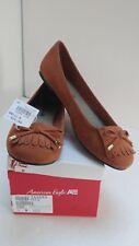 """New American Eagle Faux Suede Shoes """"Florence"""" Ballet Flats  Cognac Tan Size 8 M"""