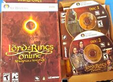Lord of the Rings Online: Shadows of Angmar  (PC, 2007) Case , Manual    S-3
