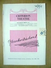 Criterion Theatre Programme 1951- Tennet's EMLYN WILLAMS as CHARLES DICKENS
