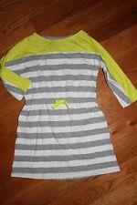 NWT Gymboree Bright Ideas Size 6 Gray Striped Lime Knit Dress