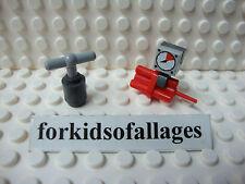 Lego Red Dynamite Bomb TNT w/Clock Timer & Explosive Detonator