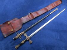 ORIGINAL  US MILITIA  OR FRATERNAL SWORD AND SCABBARD MADE ROBY MASS.