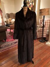 Stunning MINK Trench Belted Fur Coat New Style SZ M-L Excellent! Stored
