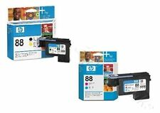 2 Druckkopf HP OfficeJet Pro K550 K5400 L7480 L7590 L7680 / Nr. 88 C9381A C9382A