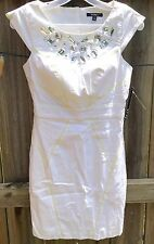 XOXO Small White Summer Shift Dress Sexy Cocktail Party Cruise Beach Bride