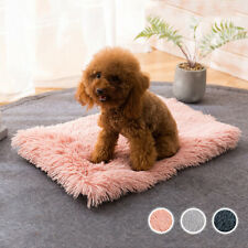 Warm Long Plush Dog Bed Mat Warm Kennel Nest Cushion Mattress Cat Sleeping Sofa