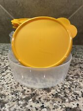Tupperware New Set of 4 Clear Big Wonders 3 Cup Bowls Set Papaya Seals