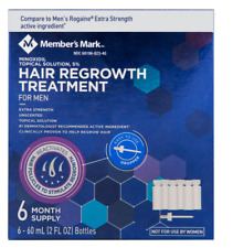 Mens Extra Strength Hair Regrowth Spray Solution 6 Month Supply 5% Minoxidil