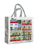 On the Prowl Funny Rupert Fawcett Cat Gusset PVC Vinyl Shopping Travel Tote Bag