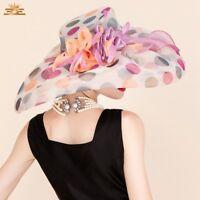 Elegant Large Women's Wedding Party Hat Veil Prom Evening Formal Occasion Cap