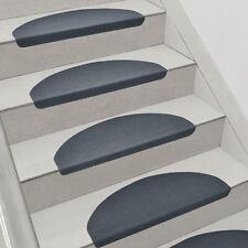 en.casa 15x Stufenmatten Treppenmatten Treppenteppich Treppenschoner Dunkelgrau