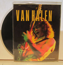 "Van Halen ""Hot For Teacher"" 45rpm w/ Fold-out Poster Sleeve EX Cond."