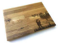 Personalised Massive Solid Oak Butchers Block Chopping Board Wedding Anniversary