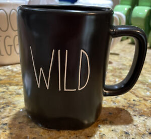 Rae Dunn by Magenta - LL - WILD - Black Ceramic Coffee Mug