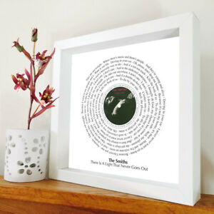 The Smiths - There Is A Light - framed song lyrics - Morrissey - Marr - artwork