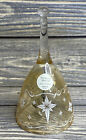 "Christmas Decoration Princess House 2001 Glass Bell Snowflake Stars 5.5"""