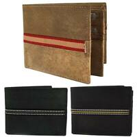 Mens Stoned Washed Effect Leather Tri-Fold Wallet by St James Quality Credit Car