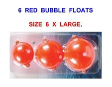 6 LARGE RED BUBBLE FLOATS FOR SEA COARSE GAME TROUT FLY ROD REEL LINE FISHING