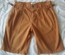 "MEN'S REISS LONDON 'CALIFORNIA' CHINO SHORTS  34""  M-L  tan/rust summer pants"