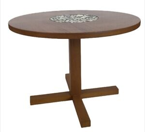 Mid Century Danish Modern Teak And Tile Small Coffee Table Or End Table Denmark