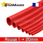 Gaine thermo rétractable 1 2 3 4 5 6 8 10 12 14 16 20 mm - Rouge
