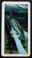 USS NAUTILUS   Nuclear Submarine    Illustrated Card   VGC