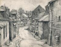 FRANK LEWIS EMANUEL (1865-1948) Pencil Drawing SAINT-VALERY-SUR-SOMME - FRANCE