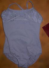 NWT Dance Mirella Lilac Camisole Leotard Sequin Stripe Med Child 8-10 M276C