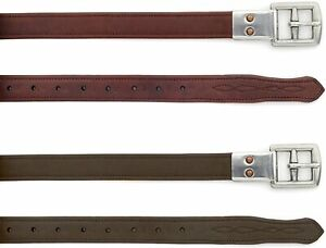 """Ovation® Covered Stirrup Leathers with Metal Clasp (Dark Brown, 54"""")"""