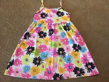 NWT, Flap Happy, Size 7 Bright Colored Poppies Tank Dress