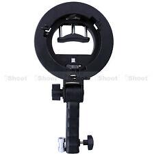 Handheld Speedlight Flash Holder for Bowens Chuck Reflector Beauty Dish Snoot