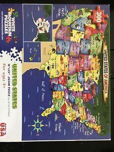 Erica Kimbell 300 Pc White Mountain Jigsaw Puzzle United States NIB