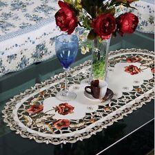ELEGANT Poliestere Ricamo TAVOLA RUNNER ricamato floreale Cutwork size40 * 85 CM