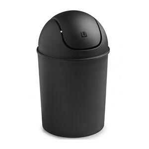 Umbra Black Mini Trash Can Matte 1.5 Gallon Small Paper Waste Bin Office Home 5L
